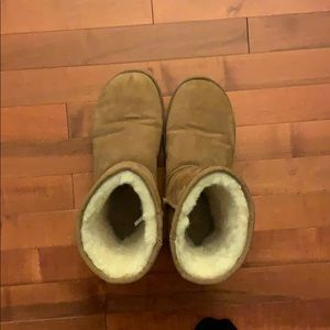 Tan uggs. Worn a couple times. Short